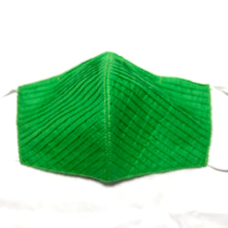 Bright Green Face Mask Filter Pocket & Nose Wire