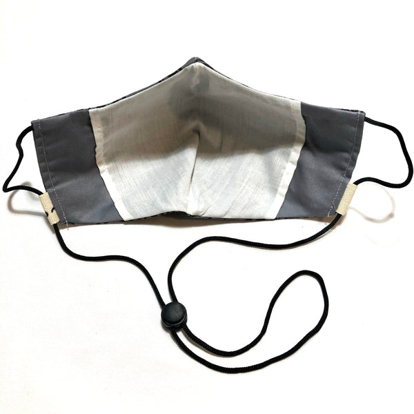 Gray & Black Swirl Face Mask w/Filter Pocket & Nose Wire
