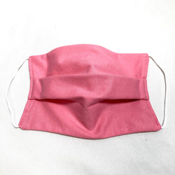 Cotton Face Mask Two Layer Solid Pink