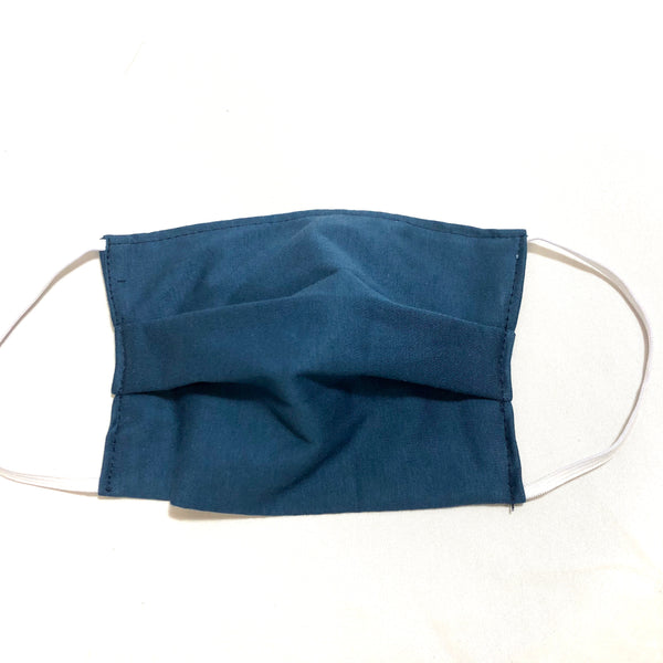 Cotton Face Mask Two Layer Solid Dark Teal