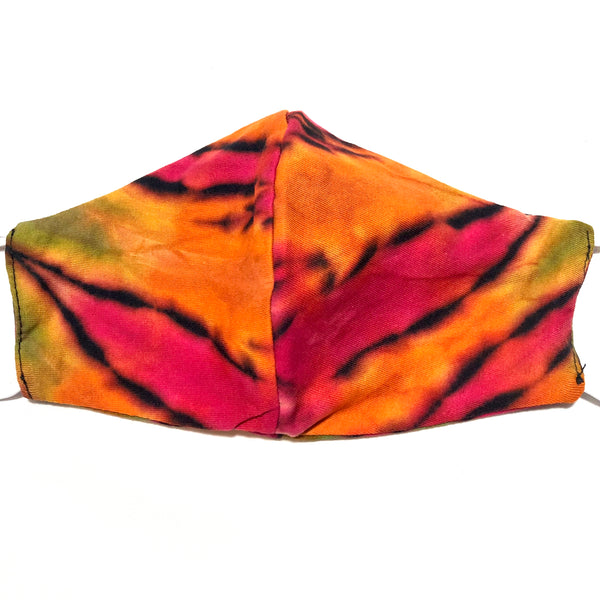 Pink & Orange Multi Tie Dye Cotton Face Mask