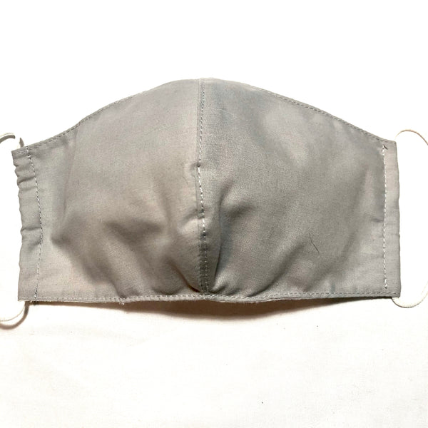 Gray Cotton Face Mask with Filter Pocket