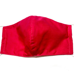 Bright Pink Cotton Face Mask with Filter Pocket