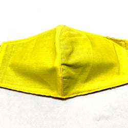 Neon Yellow Cotton Face Mask