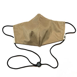 Khaki Tan Face Mask w/Filter Pocket & Nose Wire