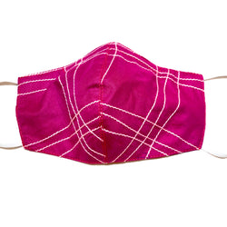 Pink & White Face Mask Filter Pocket & Nose Wire