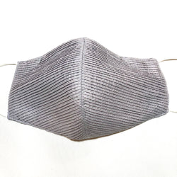 Light Gray Face Mask Filter Pocket & Nose Wire
