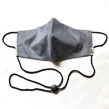 Gray Face Mask w/Filter Pocket & Nose Wire