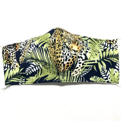 Leopard Jungle Print Face Mask with Filter Pocket