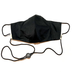 Black Face Mask w/Filter Pocket & Nose Wire