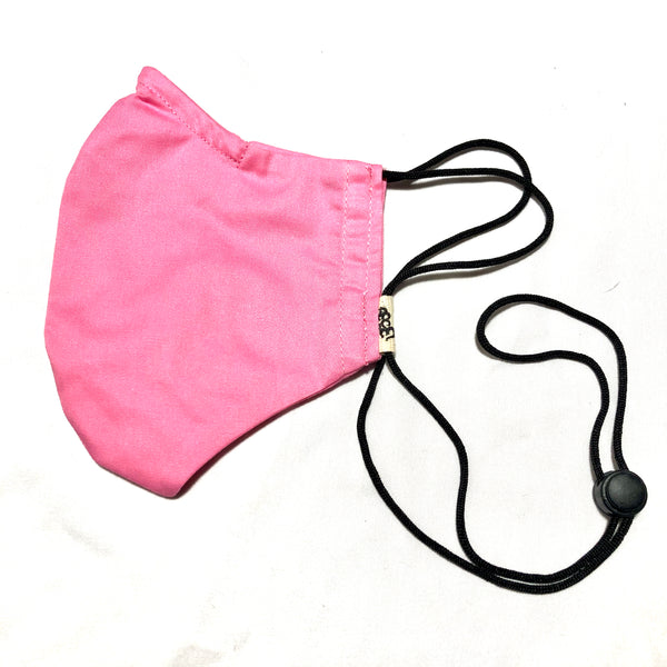 Pink Face Mask w/Filter Pocket & Nose Wire