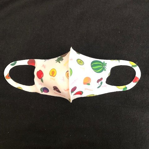 Face Mask for Kids Fruits Pattern