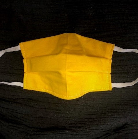 Cotton Face Mask Two Layer Solid Yellow