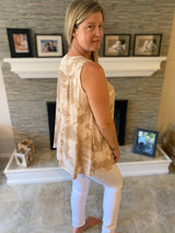 SUNBEAM TIE DYE SLEEVELESS TOP