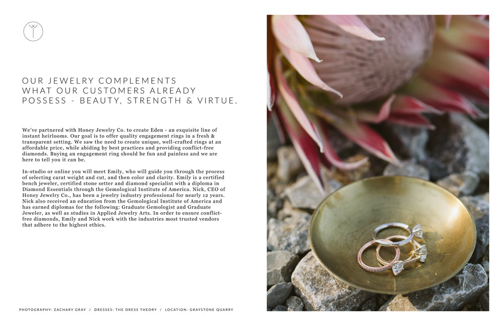 Our jewelry complements what our customers already possess - beauty, strength & virtue.