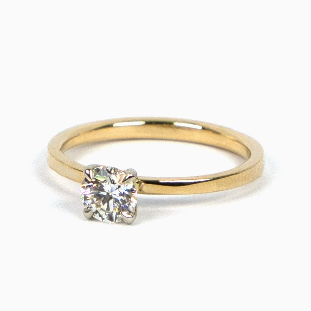 Square Shank Engagement Ring - Consider the Wldflwrs
