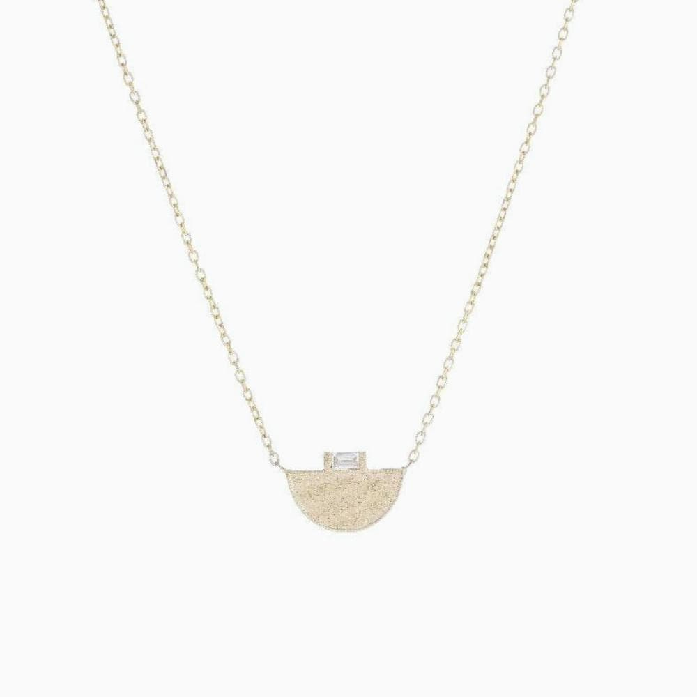 Half Moon Signet Necklace - Consider the Wldflwrs
