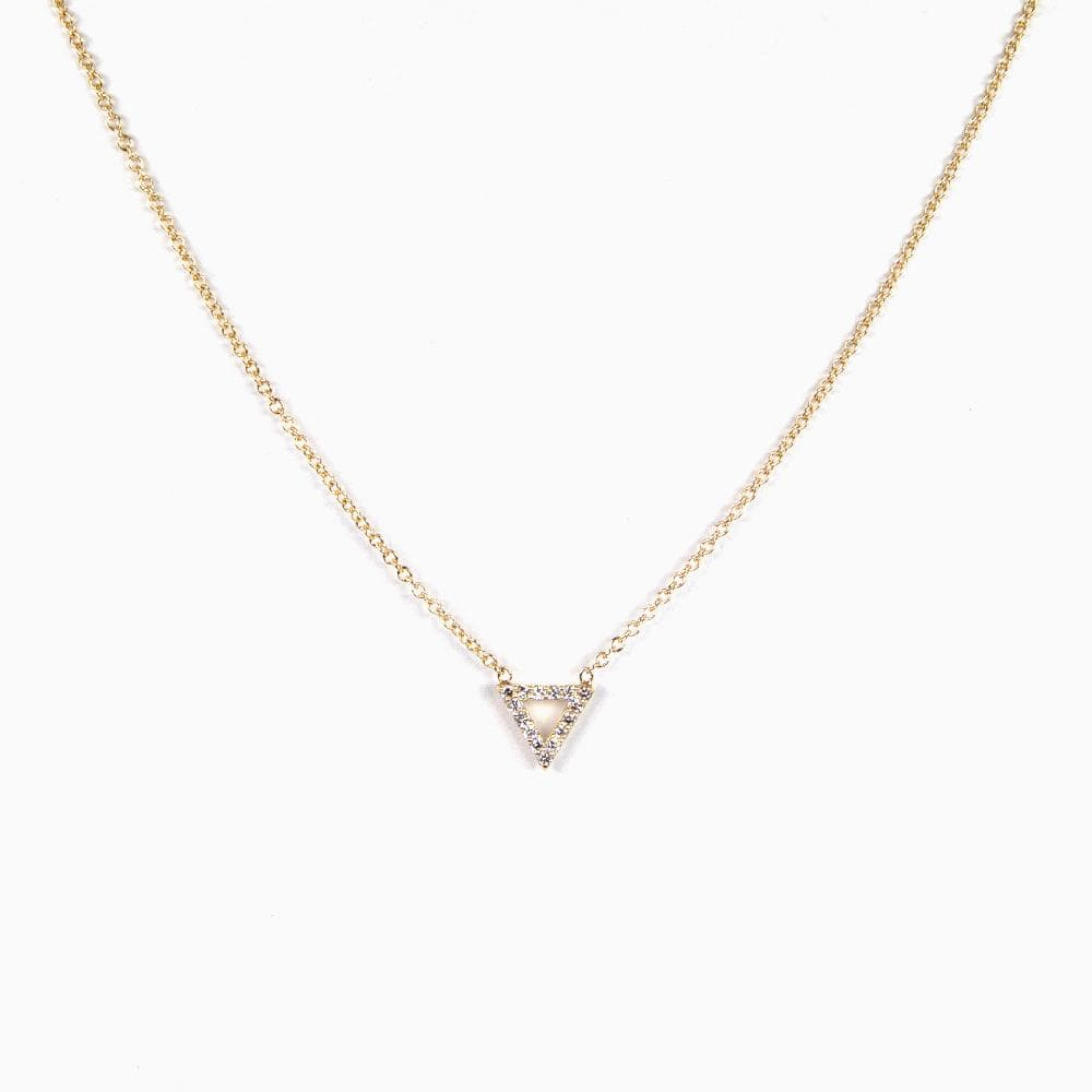 Pavé Triangle Necklace (Ready-to-Ship) - Consider the Wldflwrs