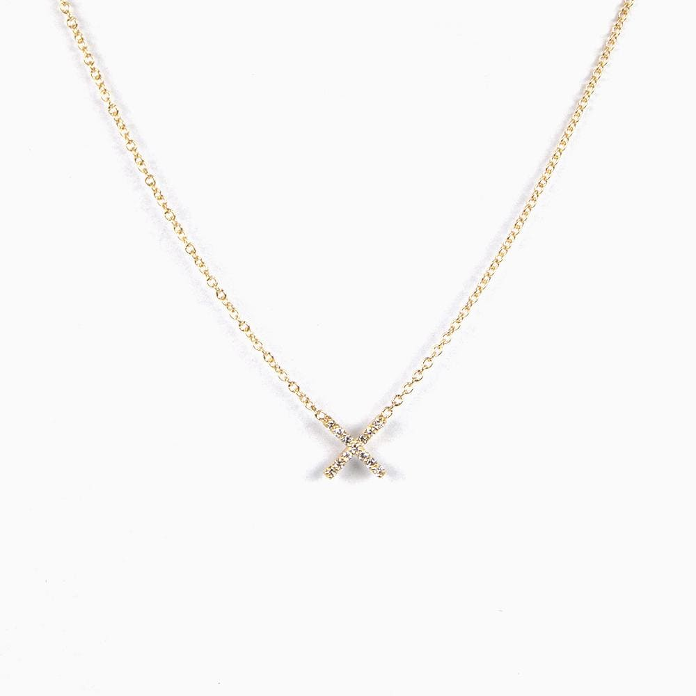 Pavé X Necklace (Ready-to-Ship) - Consider the Wldflwrs