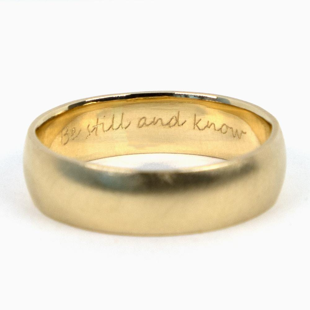 Ring Engraving - Consider the Wldflwrs
