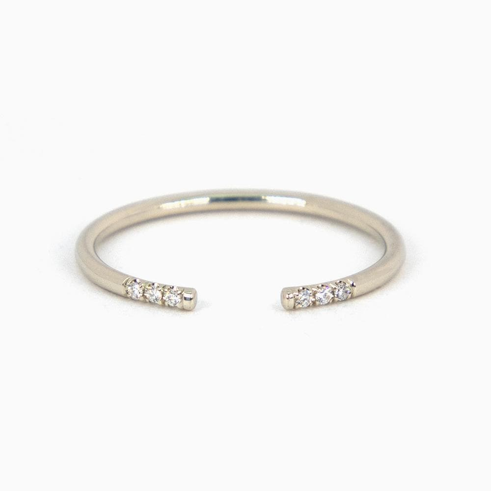 White Diamond Equilibrium Cuff Ring