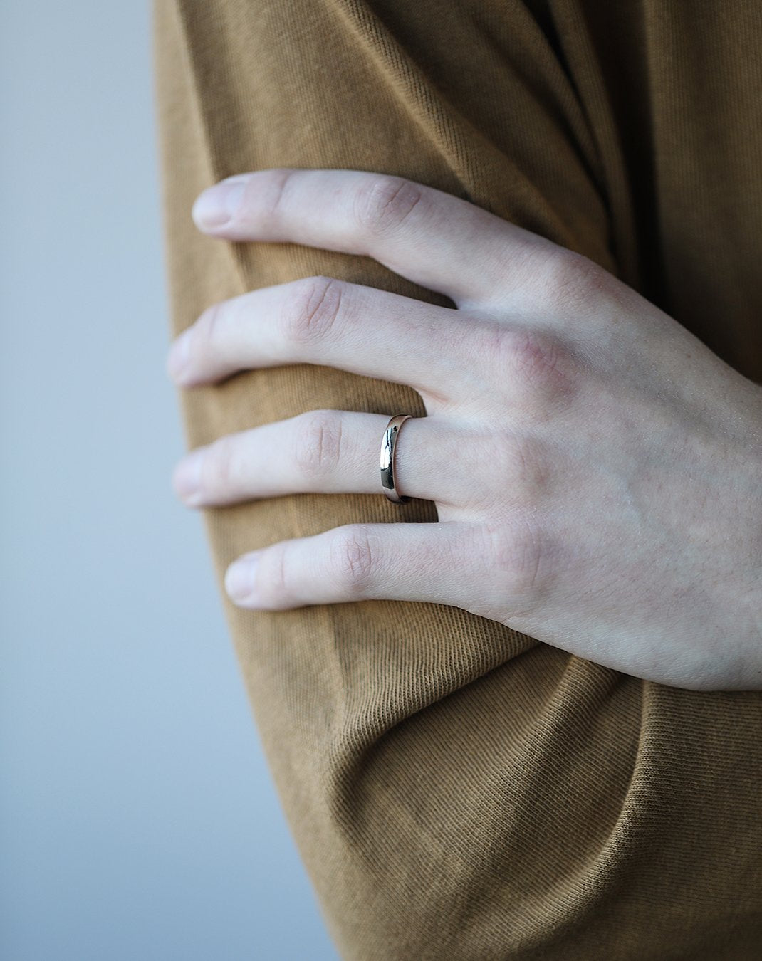 3mm Half-Round Band with Comfort Fit