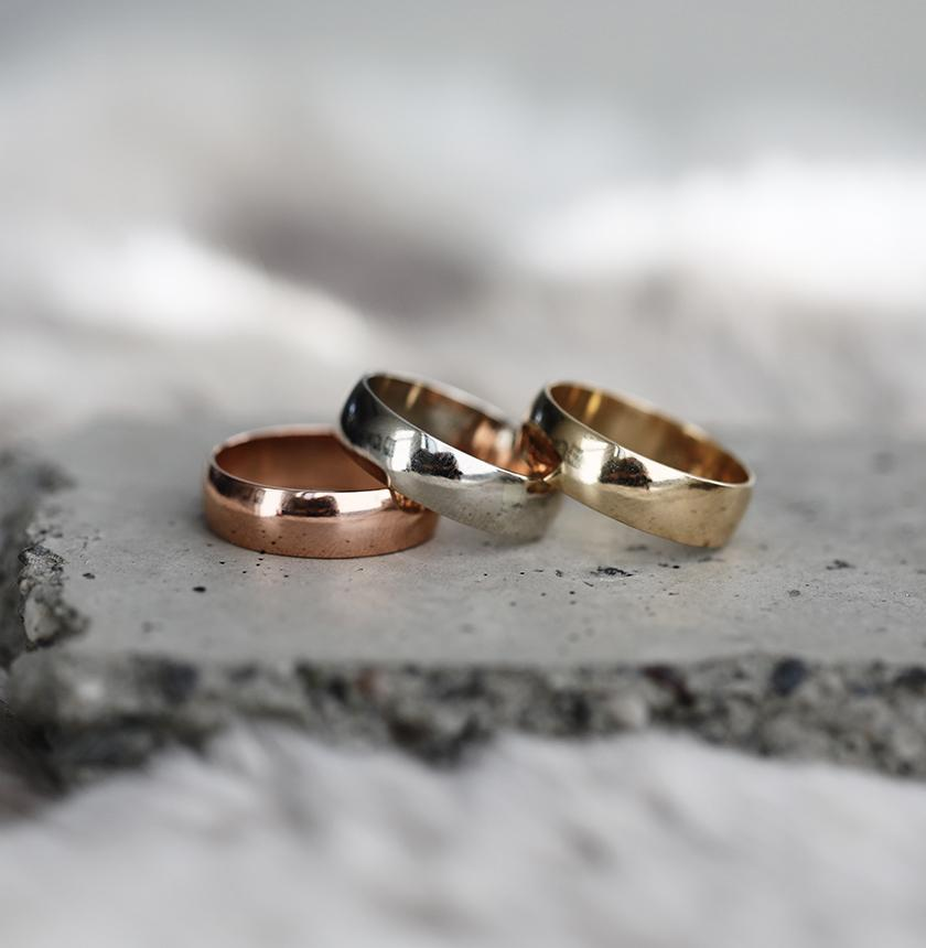 6mm Half-Round Band with Comfort Fit