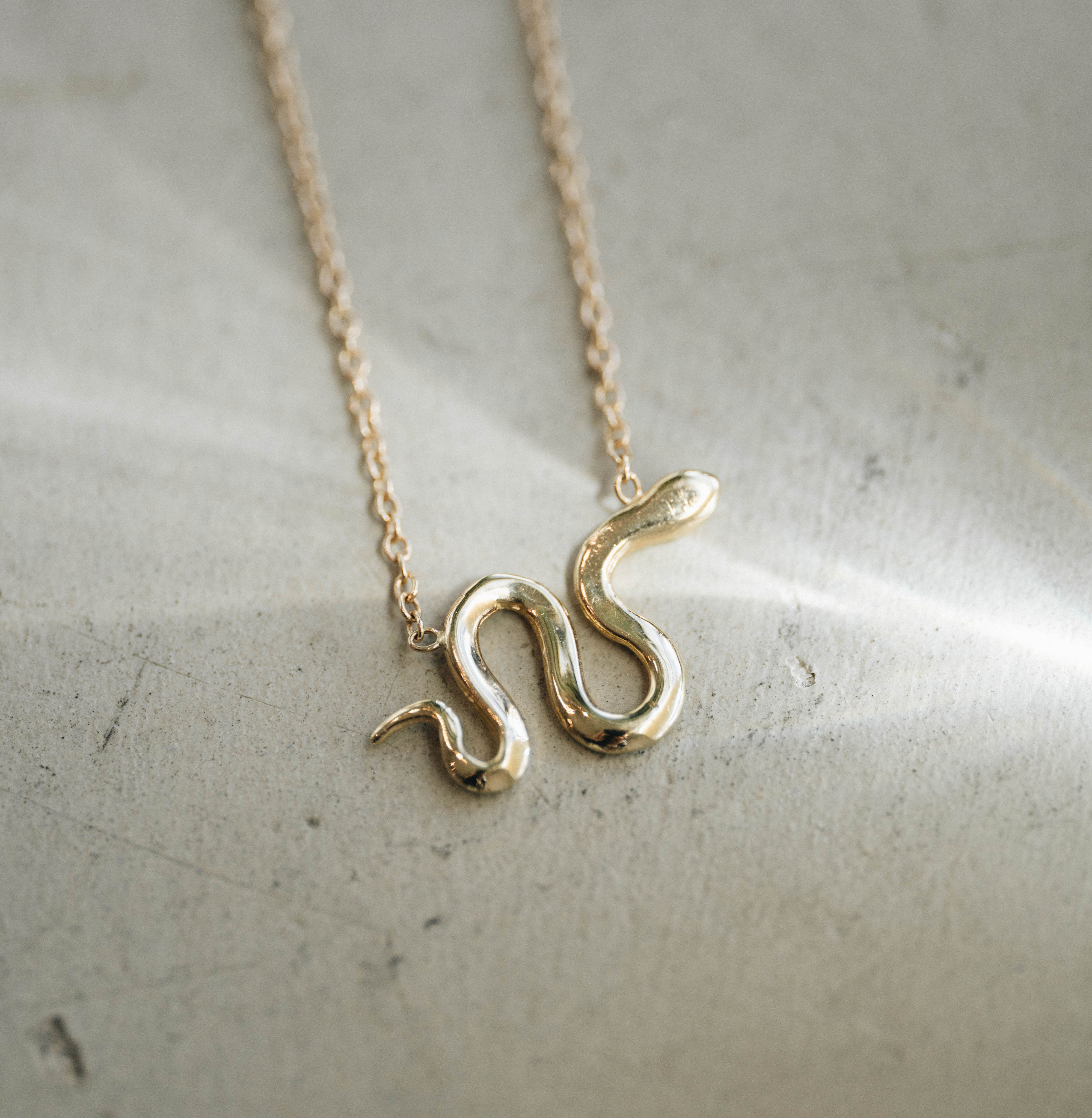 Snake Charm Necklace (Ready-to-Ship)