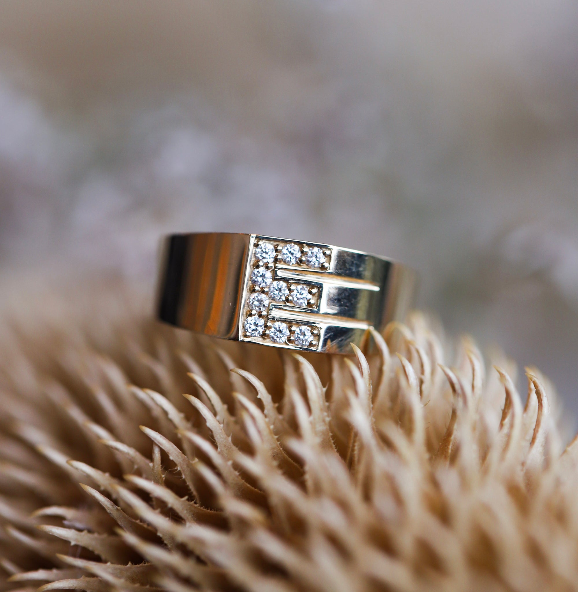 Pavé Letter Ring (Ready-to-Ship)