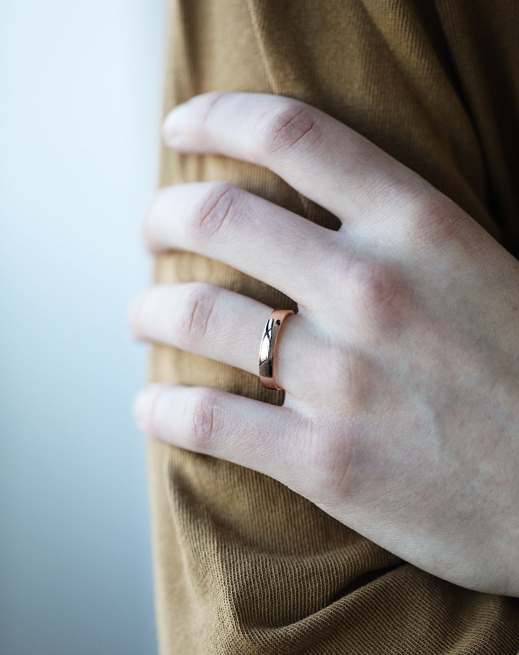 4mm Half-Round Band with Comfort Fit
