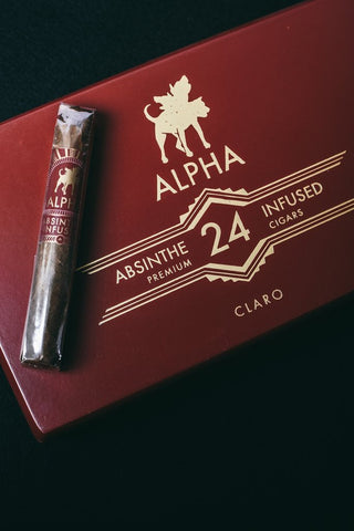Alpha Absinthe Infused Claro cigars