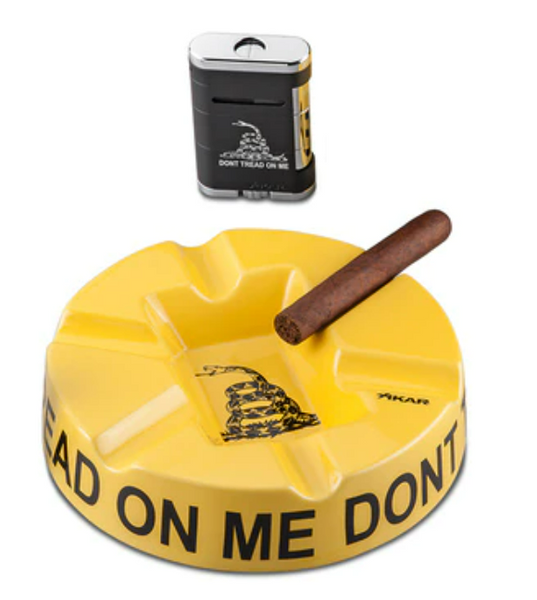 "Xikar ""Don't Tread on Me"" Ashtray and Lighter Set"