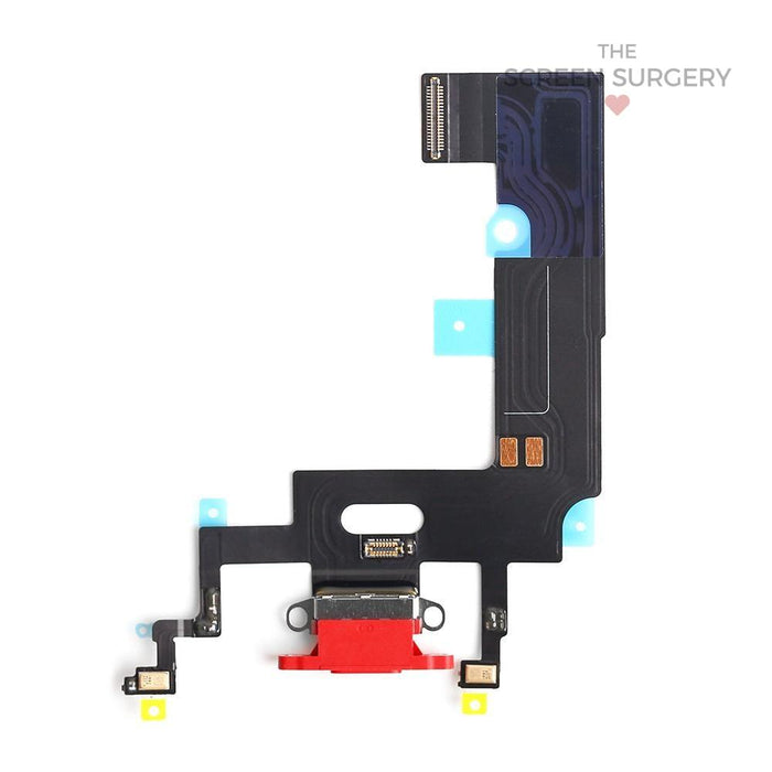 Apple Iphone Xr Charging Port Flex Cable Red Original