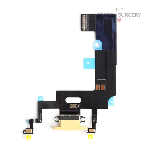 Apple Iphone Xr Charging Port Flex Cable Yellow Original