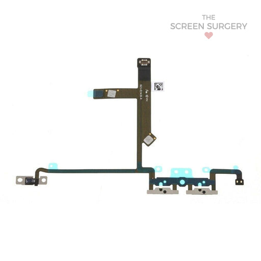 Apple Iphone Xs Volume Button Flex Cable With Metal Bracket Original