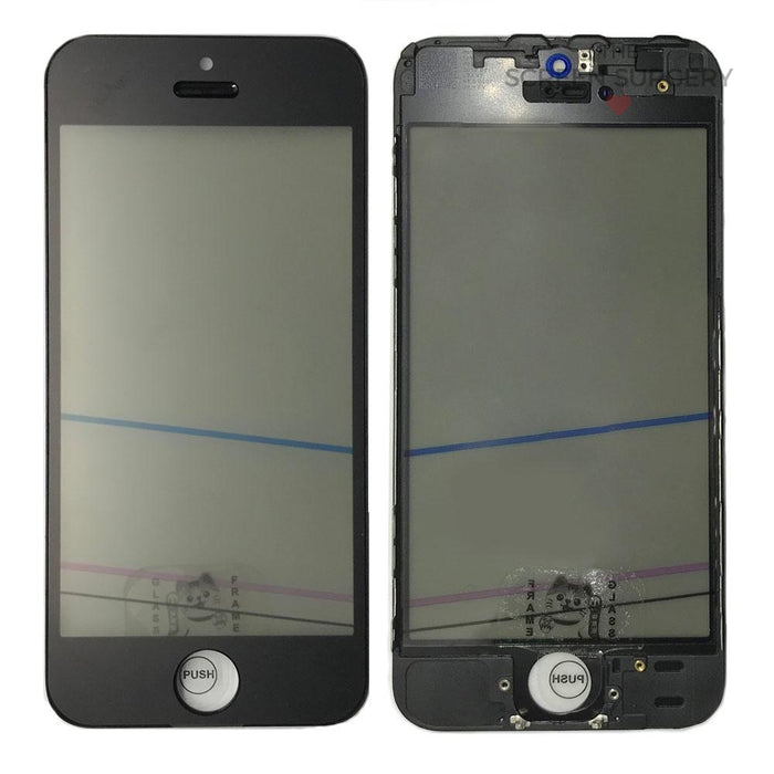 Iphone 5S - 4 In 1 Front Glass Black