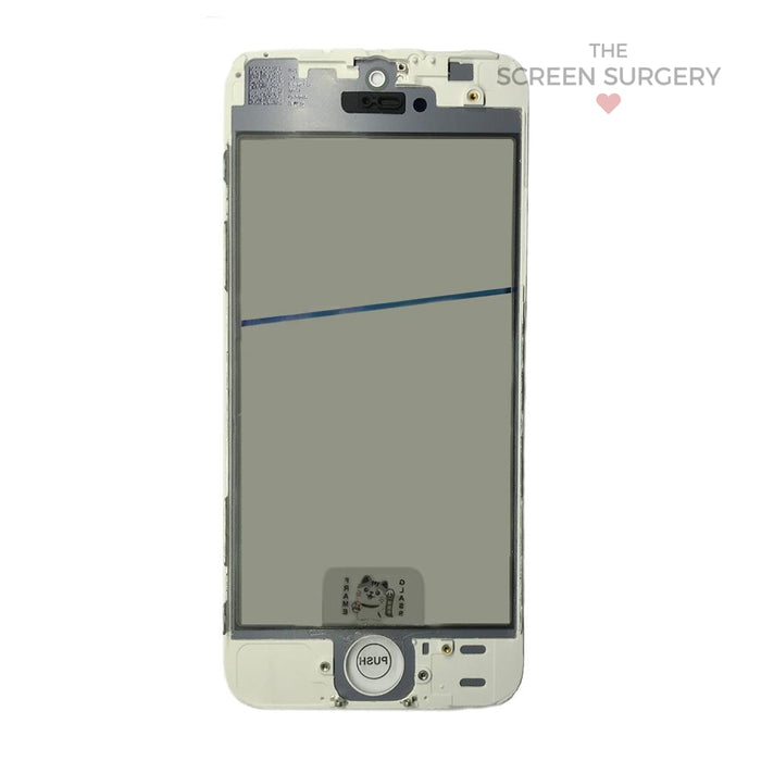 Iphone 5S - 4 In 1 Front Glass White