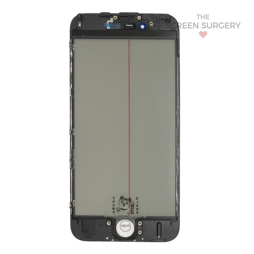 Iphone 6S - 4 In 1 Front Glass And Small Parts Black