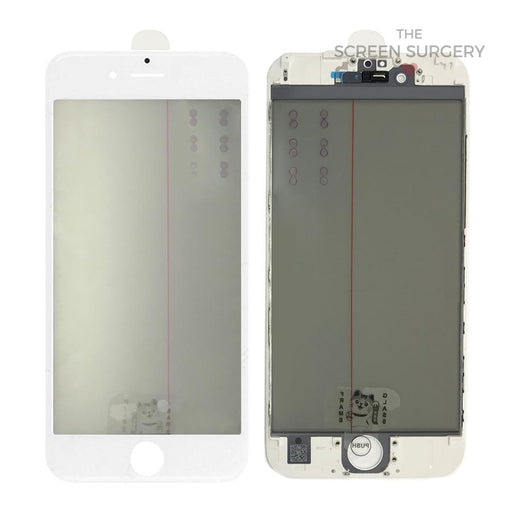 Iphone 6S - 4 In 1 Front Glass And Small Parts White