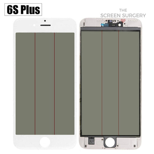 Iphone 6S Plus - 4 In 1 Front Glass And Small Parts White