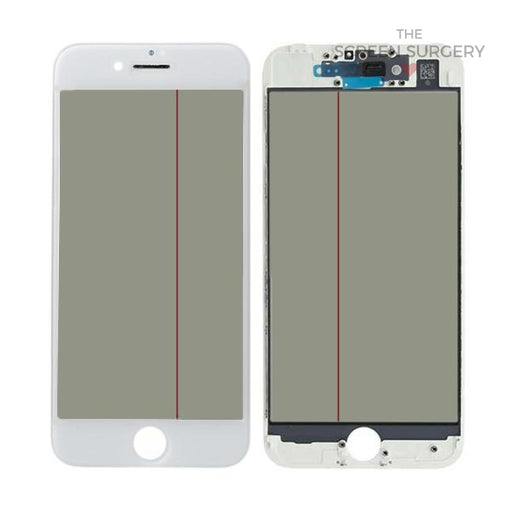 Iphone 7G - 4 In 1 Front Glass And Small Parts White
