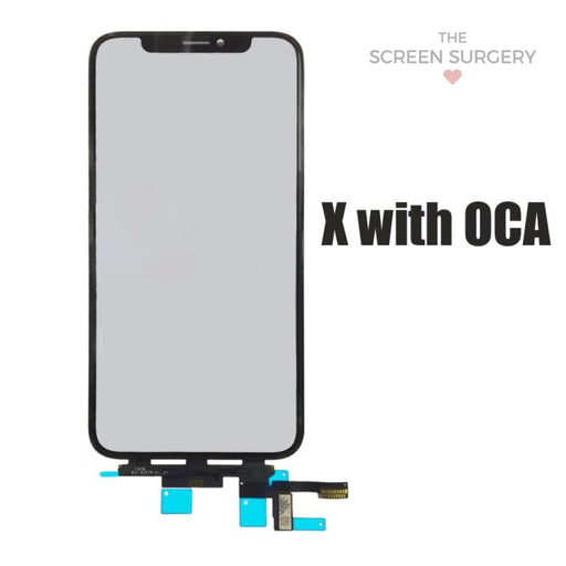 Iphone X Glass - Oca And Frame Digitiser Ic