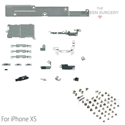 Iphone Xs Inner Metal Retaining Bracket Set Original