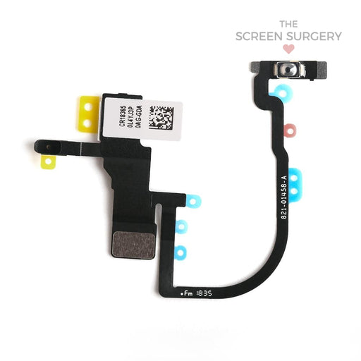 Iphone Xs Power Button Flex Cable With Metal Bracket Original