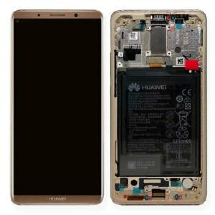Lcd Touchscreen With Battery - Brown Huawei Mate 10