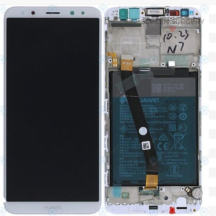 Lcd Touchscreen With Battery - White Huawei Mate 10 Lite