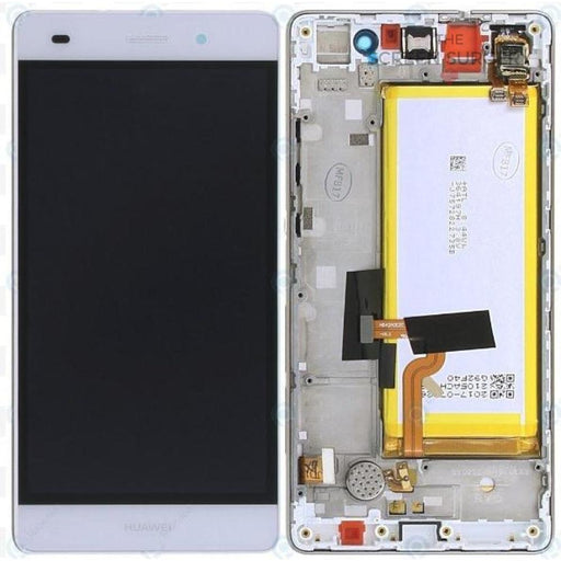 Lcd Touchscreen With Battery - White Huawei P8 Lite 2017