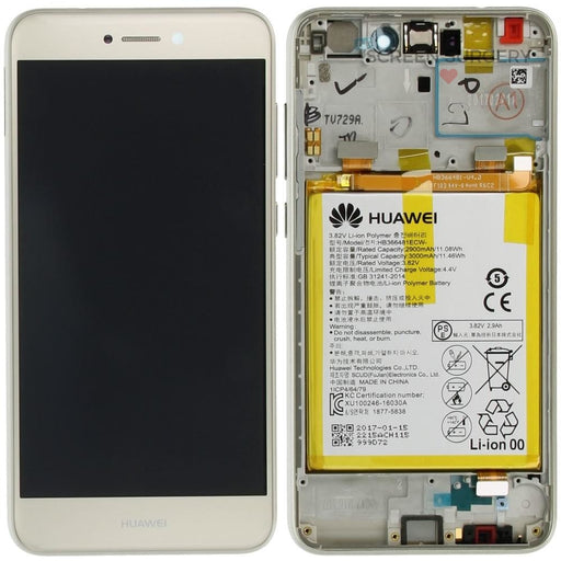 Lcd Touchscreen With Front Cover Speaker Light Sensor Battery Vibra Motor - Black Huawei P8 Lite