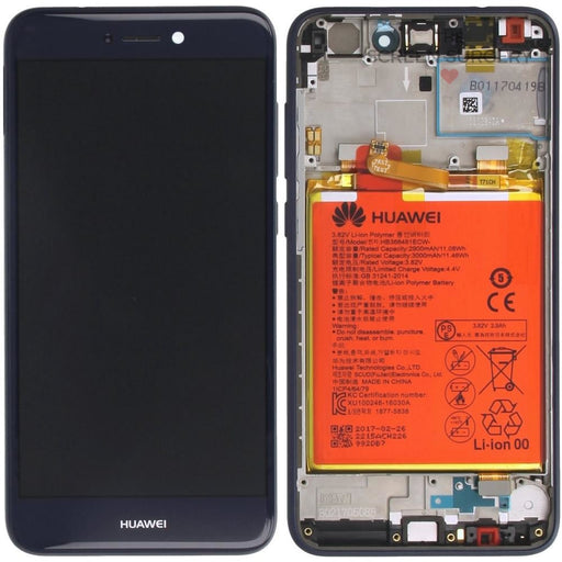 Lcd Touchscreen With Front Cover Speaker Light Sensor Battery Vibra Motor - Blue Huawei P8 Lite 2017