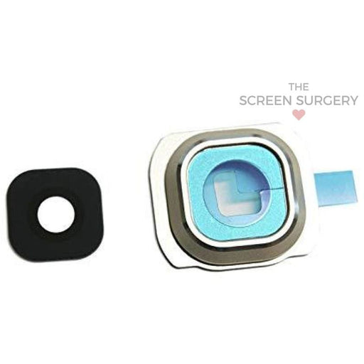S6 G920 Camera Frame/lens - White (Samsung) Parts